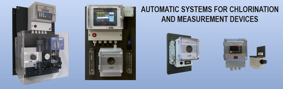automatic systems for chlorination and measurement devices